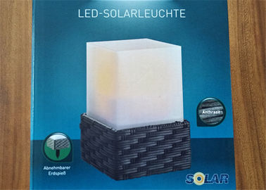 China Square 1pc Led Solar Lantern Lamp Waterproof For Garden Walkways supplier