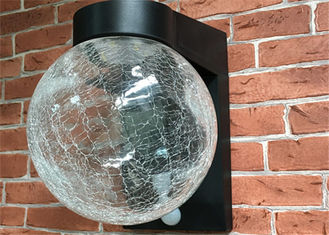 China Crackle Glass Garden Globe Solar Lights , Crackle Globe Solar Outdoor Stake Lights supplier