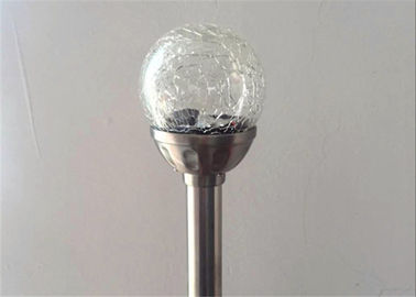 China Crackle Glass Globe Garden Collection Solar Stake Lights Color Changing For Pathway supplier