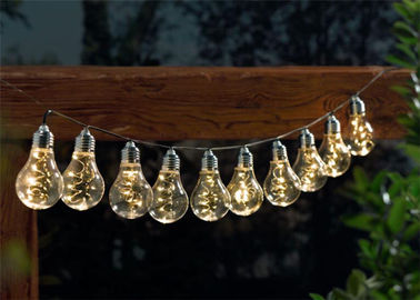 China 50 LED Outdoor Globe String Lights , Bulb Fairy Lights For Garden supplier