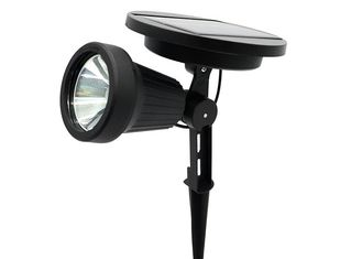 China Super Bright Solar LED Spotlight For Landscape Wall , Aluminium Finish supplier