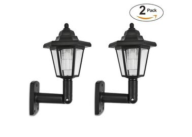 China Black Color Security Solar LED Wall Light For Outside Walkway , 17x18x25.5cm Size supplier