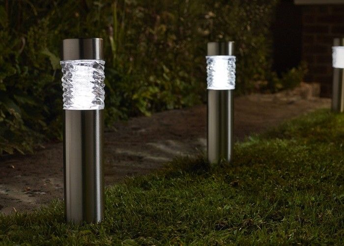Super Bright Solar Powered Bollard Garden Lights Square