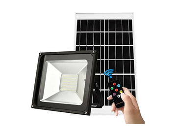 China Sensor Outdoor Security Solar LED Spotlight With Remote Control , 28x23cm Size factory