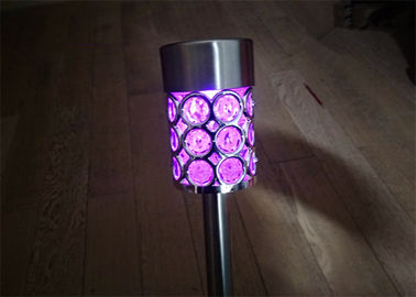 China Colour Changing Solar Stake Lights Waterproof For Garden Path , Environmentally Friendly distributor