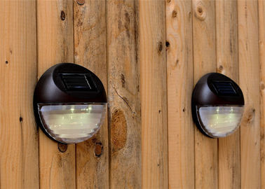China Super Bright Round Solar Powered Led Fence Lights IP44 Waterproof 11X4cm Size distributor