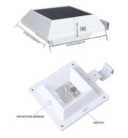 China Motion Sensor Fence Post Cap Lights , Garden Fence Solar Lights CE ROHS distributor