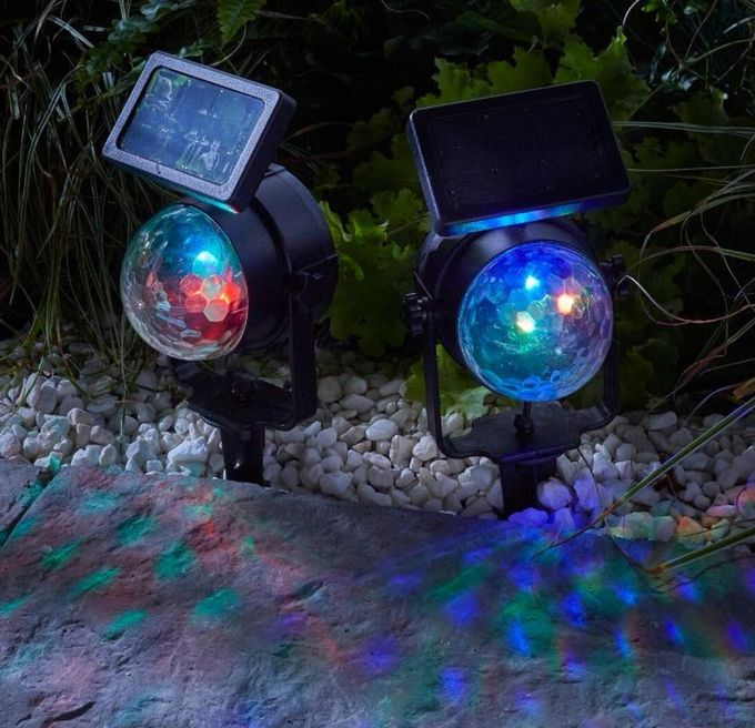 Smart Garden Solar Powered Led Spotlights Color Changing High Efficiency