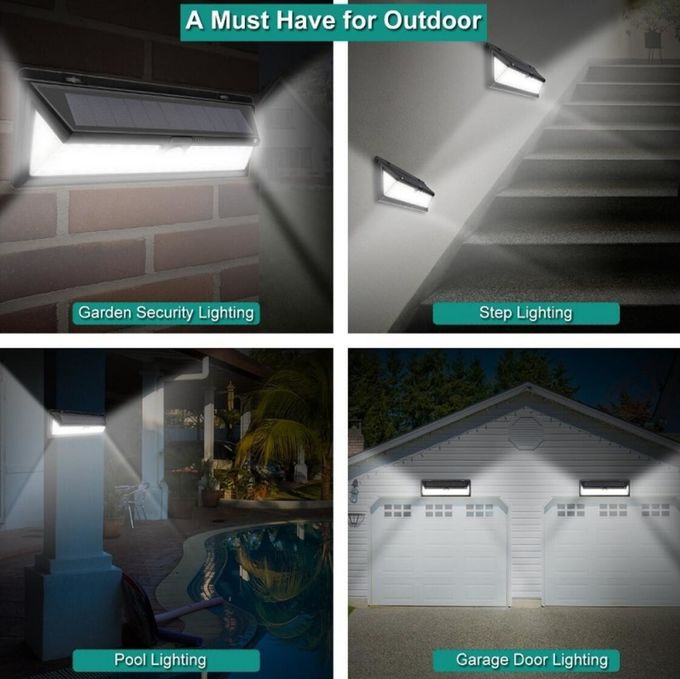 90 LED Outdoor Motion Sensor Patio Light Wireless 5000-5500K CCT With Wide Angle
