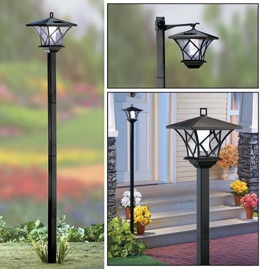 Solar Garden Post Lights Outdoor Landscape Lighting For Yard , Plastic Material
