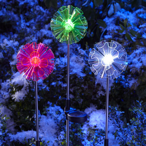 RGB Color Solar Stake Lights Outdoor Decor , Led Solar Garden Stake Lights