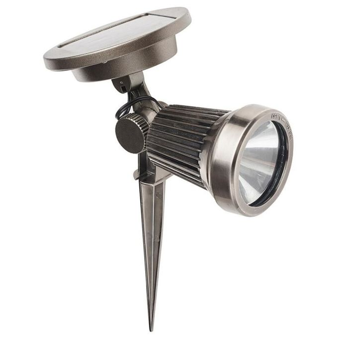 Super Bright Solar LED Spotlight For Landscape Wall , Aluminium Finish