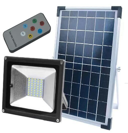 Sensor Outdoor Security Solar LED Spotlight With Remote Control , 28x23cm Size