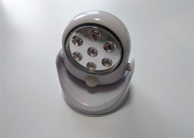 Motion Detector Rotating Led Cabinet Lighting Round Shape 250*30*25mm Size