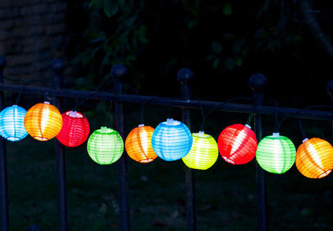 Decorative Solar Chinese Lantern String Lights For Wedding / Holiday Party