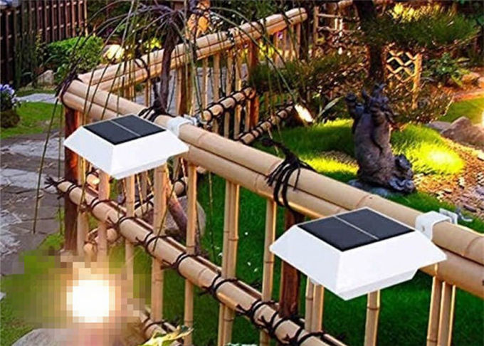 4 Pc SMD Solar LED Fence Lights Outdoor With Bracket , 6v 1.2W Power